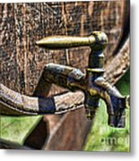 Weathered Tap And Barrel Metal Print by Paul Ward