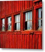 Weathered Windows Metal Print by Mamie Gunning