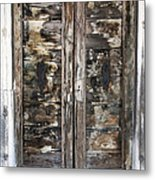 Weathered Wood Door Venice Italy Metal Print