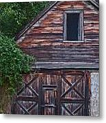 Weathered Wood Metal Print