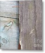Weathered Wooden Boards Metal Print
