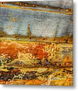 Weathered Wooden Boat - Abstract Metal Print