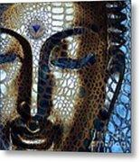 Web Of Dharma - Modern Blue Buddha Art Metal Print