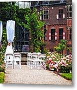 Wedding Arrangement In De Haar Castle. Utrecht  Metal Print