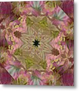 Wedding Bell Pink Daisies Metal Print