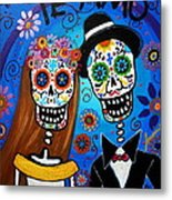 Wedding Couple  Metal Print by Pristine Cartera Turkus