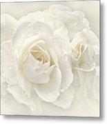 Wedding Day White Roses Metal Print