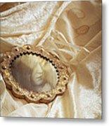 Wedding Dress And Mirror Metal Print