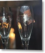 Wedding Glasses Metal Print by Donald Torgerson