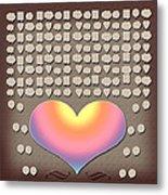 Wedding Guest Signature Book Heart Bubble Speech Shapes Metal Print