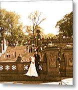 Wedding In Central Park Metal Print