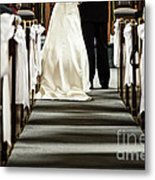 Wedding In Church Metal Print