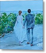 Wedding In Sonoma Winery Metal Print