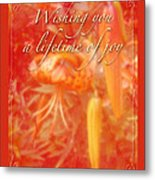 Wedding Joy Greeting Card - Turks Cap Lilies Metal Print