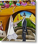 Wedding On Barge Metal Print