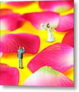 Wedding Photography Little People Big Worlds Metal Print