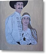 Wedding Portrait Metal Print by Elizabeth Stedman
