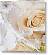 Wedding White Flowers Metal Print