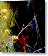 Weed Abstract Blend 3 Metal Print