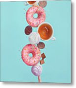 Weekend Donuts Metal Print