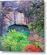 Weeping Rock At Zion National Park Metal Print
