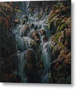 Weeping Rocks Metal Print
