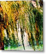 Weeping Willow Tree Painterly Monet Impressionist Dreams Metal Print