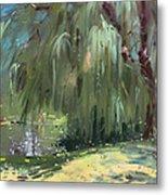 Weeping Willow Tree Metal Print