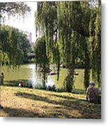 Weeping Willows In Central Park  Metal Print