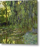 Weeping Willows The Waterlily Pond At Giverny Metal Print by Claude Monet