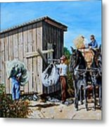 Weighing Cotton In The Field 1930s Metal Print