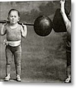 Weightlifting Dwarfism Exhibits Metal Print