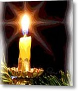Weihnachtskerze - Christmas Candle Metal Print