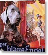 Weimaraner Art Canvas Print - Der Blaue Engel Movie Poster Metal Print