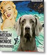 Weimaraner Art Canvas Print - River Of No Return Movie Poster Metal Print
