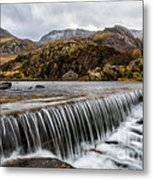 Weir At Ogwen Metal Print