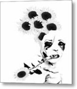 Weird Thoughts Metal Print by Theda Tammas