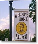 Welcome Home Banner Metal Print