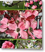 Welcome Spring Collage Metal Print