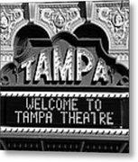 Welcome Tampa Metal Print