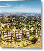 Welcome To Hollywood Metal Print by Natasha Bishop