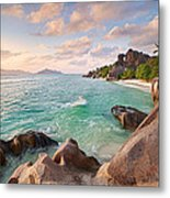 Welcome To La Digue Metal Print
