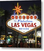 Welcome To Las Vegas Metal Print by Mike McGlothlen