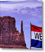 Welcome To Monument Valley Metal Print