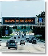 Welcome To New Jersey Metal Print