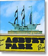 Welcome To The Asbury Park Boardwalk Metal Print
