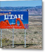 Welcome To Utah Metal Print