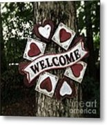 Welcome With Love Metal Print