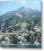 Welcoming Positano Metal Print