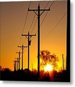 Well... Orange You Electric Metal Print by John Grace